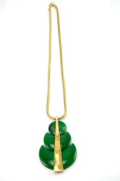 Beautiful green necklace from the House of Lavande website.  Worn by Olivia Wilde and some fancy event!