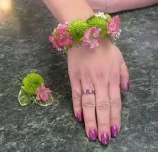 Fresh Flower Corsage Bracelet Wflowers All Around The Wrist