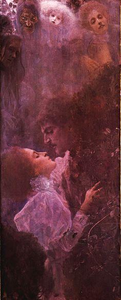 Klimt: Love (1895) Detail. Giclee Fine Art Print #klimt