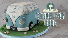 Campervan cake : Volkswagen VW camper van birthday cake (birthday cake making) Camper Van Cake, Camper Cakes, Vw Camper, Birthday Cake Video, Birthday Cakes, 90th Birthday, Birthday Stuff, Special Birthday, Volkswagen California