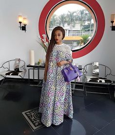 """Here is the front view of the anticipated Kaftan called """"Majesty""""🙌🙌🙌🙌🙌 Its amazing how several women pre Ordered this… African Print Dresses, African Print Fashion, Africa Fashion, African Fashion Dresses, African Attire, African Wear, African Women, African Dress, African Clothes"""