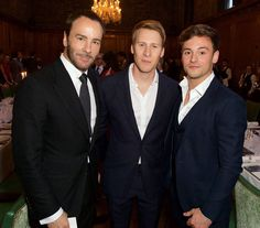 """142 Likes, 3 Comments - Kind of news ☆ Archive of news (@tomdaley.news) on Instagram: """"What a pic! Tom Ford, Tom Daley and Dustin Lance Black at the London Fashion Week Men's closing…"""""""