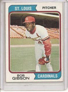 1974 Topps #35 Bob Gibson Baseball Card - Excellent - Mint Condition #funbaseball