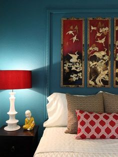 Asian Bedroom Design: Exoticism from the Far East: Modern Asian Bedroom Ideas with … – Modern Bedroom Decoration Asian Home Decor, Diy Home Decor, Asian Bedroom Decor, Asian Inspired Bedroom, Asian Inspired Decor, Living Room Turquoise, Turquoise Walls, Bedroom Turquoise, Red Turquoise