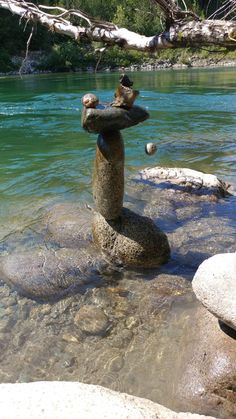 Rock Sculpture, Stone Sculptures, Stone Balancing, Stone Art, Rock Art, Rock And Roll, Outdoor Decor, Rocks, Stones