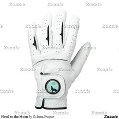 Howl to the Moon Golf Glove #wolf #wolves #animals #howl #moon