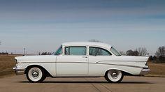 1957 Chevrolet 210 Sedan Dual Quad 283 CI, 3-Speed presented as lot S172 at Schaumburg, IL 2015 - image2