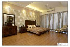 4 Bhk Apartment at Amanora, Pune by Bharati Havele, Interior Designer in PUNE,Maharashtra, India Traditional Bedroom, Pune, Master Bedroom, Curtains, Interior Design, Brown, Design Ideas, Inspiration, Furniture