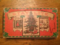 Vintage Stay Lite Christmas lights, made in Canada.  My collection.