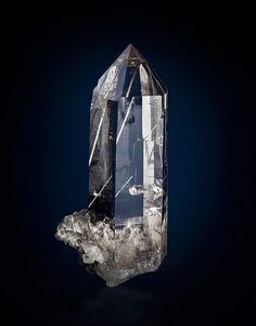 Quartz with Anhydrite - Switzerland Size: 10.0 cm