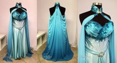Elven Bridal Gown in Blue and Aqua by Lillyxandra.deviantart.com on @DeviantArt