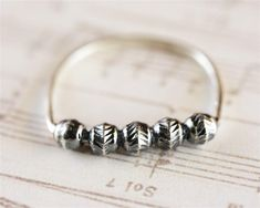 Sterling Silver Stacking Ring, Unique Boho Style Stackable Balls Ring, Edgy Statement Womens Fashion Jewelry.  #paulalapidot #unique #edgy #etsy #handmadejewelry #statement #fashion #rings #jewelrydesign #stackingrings