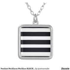 Square Pendant Necklaces Beautiful Square Pendant Necklace with BLACK AND WHITE STRIPES. So chic! Worldwide Shipping. Money Back Guarantee. Price $24.95