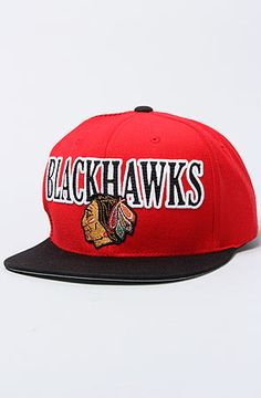 0cced2e66e9 The Chicago Blackhawks Vintage Laser Stitch Snapback Hat in Red