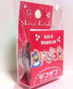 Kawaii Japan Deco Masking Tape:DecoPoco Shinzi Katoh Series Alice in Wonderland