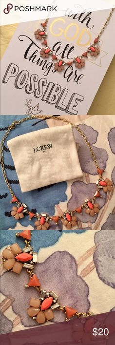 J crew statement Necklace Pretty and great condition! J. Crew Jewelry Necklaces
