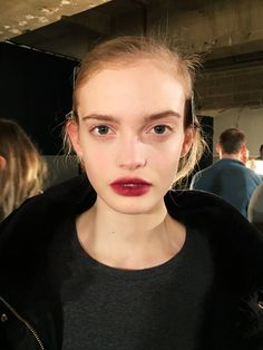 Wine-stained lips at Erdem F/W '16