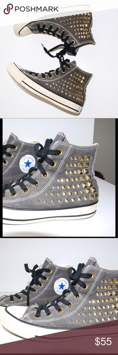 9c811d0d99cc Converse high top stud Kids sz 4.5 Converse high top