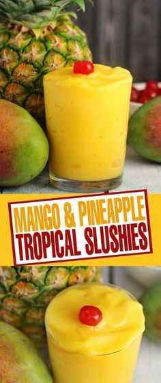 summer on the way, these Mango & Pineapple Tropical Slushies are a refreshi. With summer on the way, these Mango & Pineapple Tropical Slushies are a refreshi.With summer on the way, these Mango & Pineapple Tropical Slushies are a refreshi. Smoothie Fruit, Smoothie Drinks, Healthy Smoothies, Healthy Drinks, Healthy Snacks, Healthy Recipes, Nutrition Drinks, Healthy Eats, Nutrition Websites
