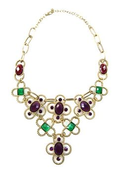 Multicolor Crystal Bib Necklace by Eye Candy Los Angeles on @HauteLook