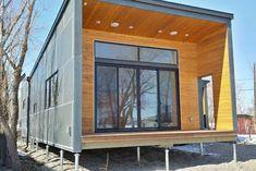 Plano de casa prefabricada de containers de casi 100 m2
