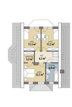 Gwiazdka III Floor Plans, House, November, Projects, November Born, Home, Homes, Floor Plan Drawing, Houses