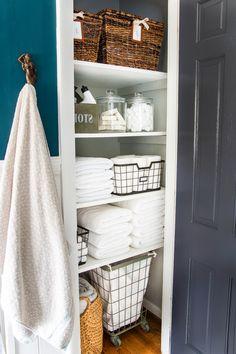 The beauty of linen closet organization makeover 20