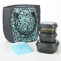Lakefield Insulated Lunch Bag Kit with Reusable Container Set and Ice – Fit & Fresh