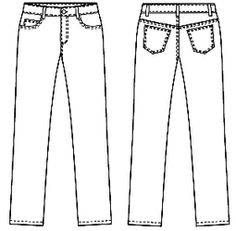 Straight Leg Jeans | Another cool Japanese sewing pattern. Learn to sew them at www.japanesesewingpatterns.com