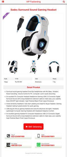 Jasa website toko online Murah I Jasa Pembuatan Website Bandung Gaming Headset, Gaming Computer, Surround Sound, Website, Digital