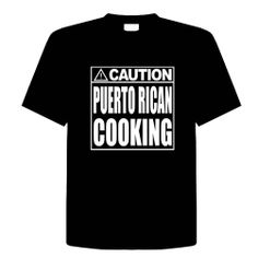 CAUTION - PUERTO RICAN COOKING Size XL Funny Unisex T-Shirt