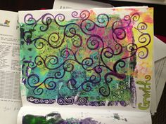 Addicted to my Gelli plate