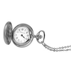 Just because gift $85 Ladies' Personalized Silver-Tone Pocket Watch Pendant (8 Characters) - Zales