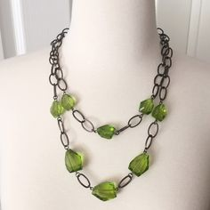 Jewelry - Emerald Bead and Chain necklace. Clearance price!!