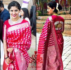 Pattu Saree Blouse Designs, Saree Blouse Patterns, Designer Blouse Patterns, Fancy Blouse Designs, Bridal Blouse Designs, Blouse Models, Saree Models, Jamdani Saree, Sarees