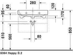 Duravit - Happy Washbasins Furniture washbasin by Duravit Duravit, Bathroom Plans, Small Bathroom, Modern Bathroom Design, Bathroom Interior Design, Bathroom Dimensions, Building Information Modeling, Happy D, Room Planning