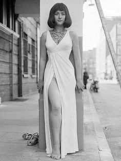 A 19-year-old Helen Mirren sporting her costume from a theater production of 'Anthony and Cleopatra', 1966
