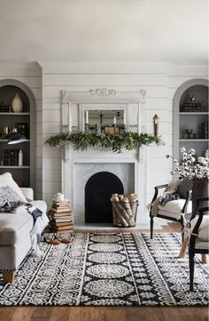 Love this gorgeous rug from Joanna Gaines' Magnolia Home collection. The perfect way to add warmth and texture to a farmhouse style room.