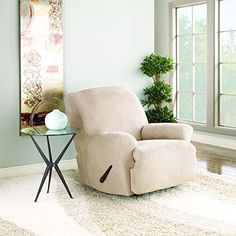 Sure Fit Stretch Suede - Recliner Slipcover - Taupe (SF3...