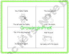 Hey Diddle Diddle Emergent Reader Freebie