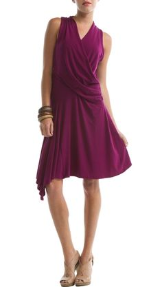 This dress is made from Tencel, a material made of wood pulp from sustainable tree farms.