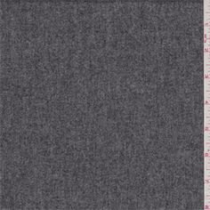 Heather sterling and charcoal grey. A medium weight wool and polyester blend flannel fabric with a soft,brushed surface.Compare to $18.00/yd