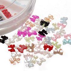 12 Colors 3D Bowknot Design Nail Art Decoration Wheel