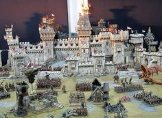 One of the great joys in the Warhammer hobby is seeing (or participating in) massive games. If Warhammer is a spectacle, then huge games wi. Warhammer Fantasy, Disney Christmas Village, Tabletop, Toy Castle, Warhammer Terrain, Game Terrain, Scenery Pictures, Wargaming Terrain, Fantasy Miniatures
