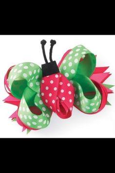 Mud Pie Lady Bug 3 in 1 hair bow. Mud Pie Lady Bug 3 in 1 hair bow. See More Hair Bows at www. Ribbon Hair Bows, Diy Hair Bows, Bow Hair Clips, Barrettes, Hairbows, Baby Girl Hair, Ribbon Sculpture, Making Hair Bows, Diy Hair Accessories