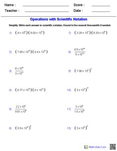 25 Best Exponents Scientific Notation Images Math 8 Teaching Math