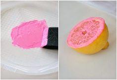Estampar frutas: ¡Una solución muy económica!