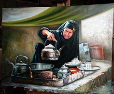 Iraqi Art- Iraqi artist Sahib Al-Rasam   الفنان صاحب الرسام