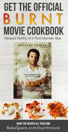 The Official Burnt Movie Cookbook Chef Recipes, Cookbook Recipes, Movie Chef, Marcus Wareing, Make Your Own Cookbook, Celebrity Chef, Michelin Star, New Cookbooks, Taste Buds