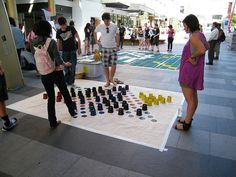 "The ""Giant Games in the Valley"" portion of the 2010 Valley Fiesta in Brisbane, Australia, included this large version of Chinese checkers. Photo by Flickr user Michael Zimmer (zayzayem)."